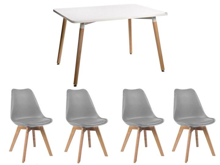 HOME DECOR ZESTAW STÓŁ PARIS 120x80 CM + 4 KRZESŁA KRIS 4 KOLORY NA NOGACH BUKOWYCH DSW DSR Pomieszczenie Salon Kategoria Stoły z krzesłami