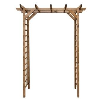 Pergola drewniana 165 x 80 x 214 cm brązowa