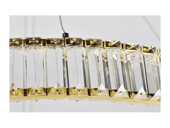 MCODO ::  Kryształowy złoty żyrandol led Prisma 60W z barwą ciepłą 3000K z podwójnymi ringami 60 i 40cm Metal Lampa z kryształkami Styl Nowoczesny Chrom Styl Klasyczny