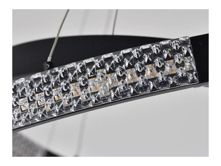 MCODO ::  Nowoczesna lampa led Luna czarna o mocy 85W z barwą ciepłą 3000K 80cm Lampa z kloszem Tworzywo sztuczne Kolor Czarny Metal Styl Nowoczesny