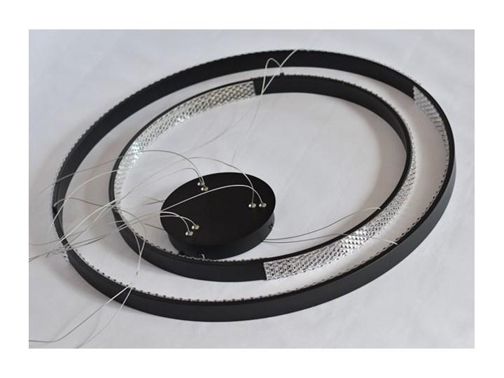 MCODO ::  Nowoczesna lampa led Luna czarna o mocy 85W z barwą ciepłą 3000K 80cm Kolor Czarny Metal Tworzywo sztuczne Lampa z kloszem Styl Nowoczesny