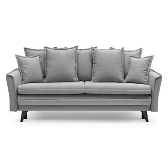 Jasnoszara sofa rozkładana Bobochic Paris Seychelles