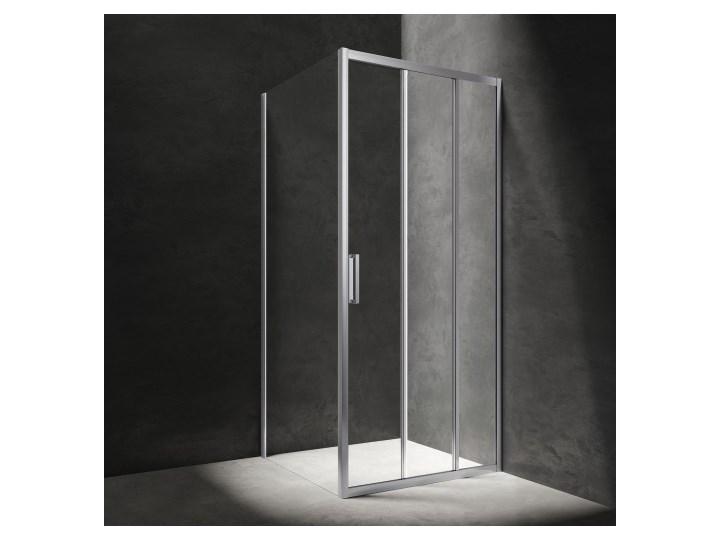 Kabina kwadratowa Chelsea, drzwi przesuwne, 90x90cm, chrom/transp, CH9090CRTR