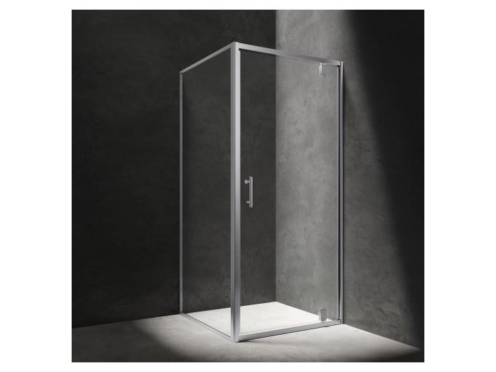 Kabina kwadratowa S, 80 cm, chrom/szkło przezroczyste, S-80KCRTR