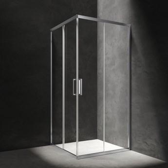 Kabina prysznicowa Chelsea, 80 cm, kwadratowa, chrom/szkło przezroczyste, NDC80XCRTR