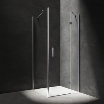 Kabina kwadratowa Manhattan, drzwi uchylne, 80x80cm, chrom/transp, MH8080CRTR