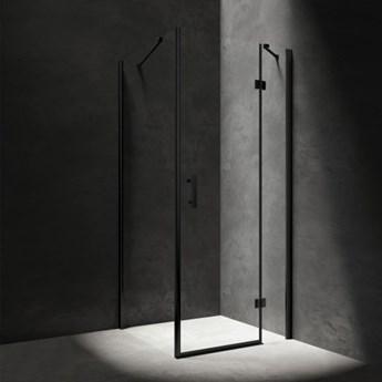 Kabina kwadratowa Manhattan, 100x100 cm, profile czarne/szkło przezroczyste, MH1010BLTR