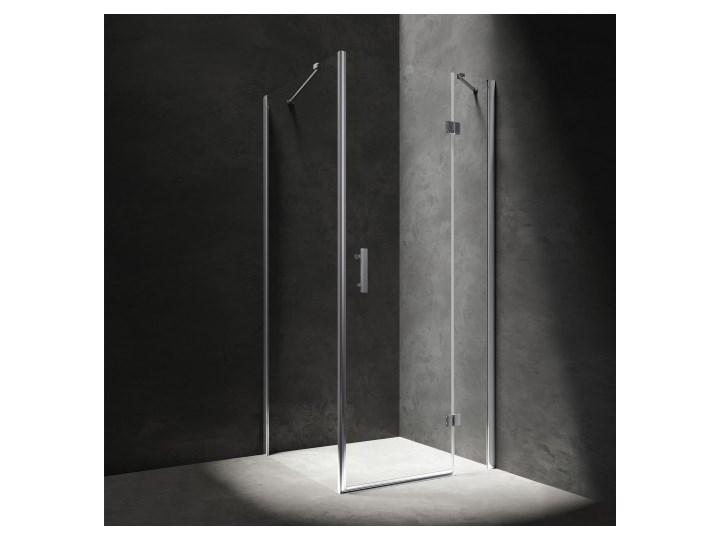 Kabina kwadratowa Manhattan, drzwi uchylne, 120x120cm, chrom/transp, MH1212CRTR