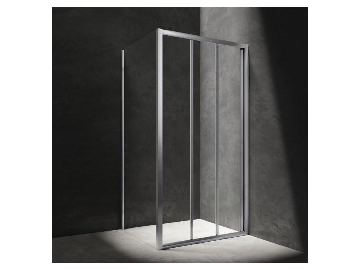 Kabina kwadratowa Bronx, drzwi przesuwne, 90x90cm, chrom/transp, BR9090CRTR