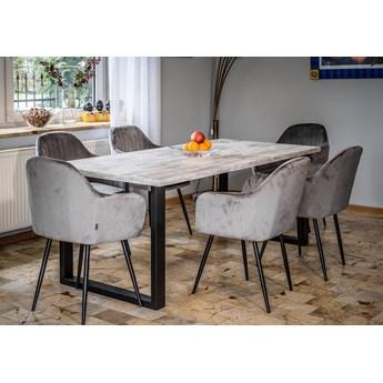 Stół do jadalni w stylu skandynawskim LOFT 140x240x90 - FIORD - Sosna bielona