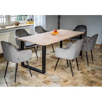 Stół loftowy rozkładany 140x240x90 - FIORD - Jesion