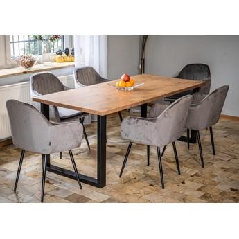 Stół industrialny rozkładany 140x240x90 - FIORD - Dąb