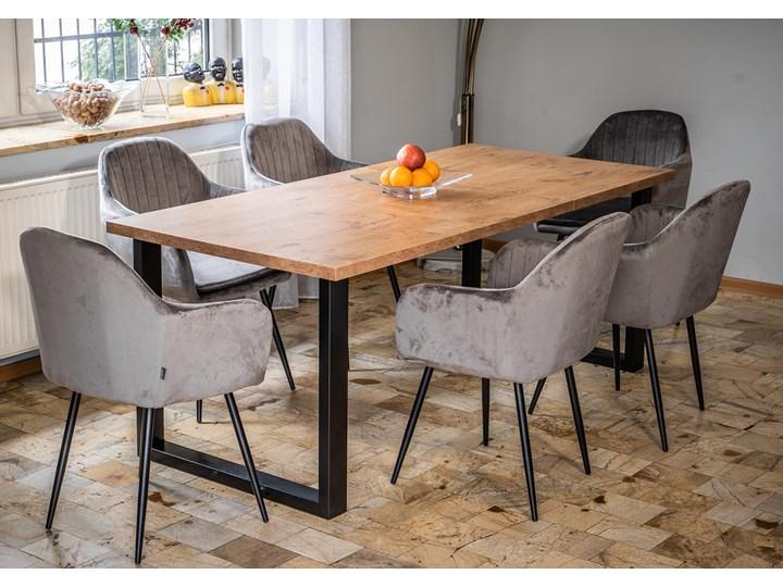 Rozkładany stół do jadalni 140x240x90 - FIORD - Dąb Szerokość 140 cm Wysokość 90 cm Długość 140 cm  Szerokość 240 cm Drewno Metal Długość 240 cm Styl Industrialny