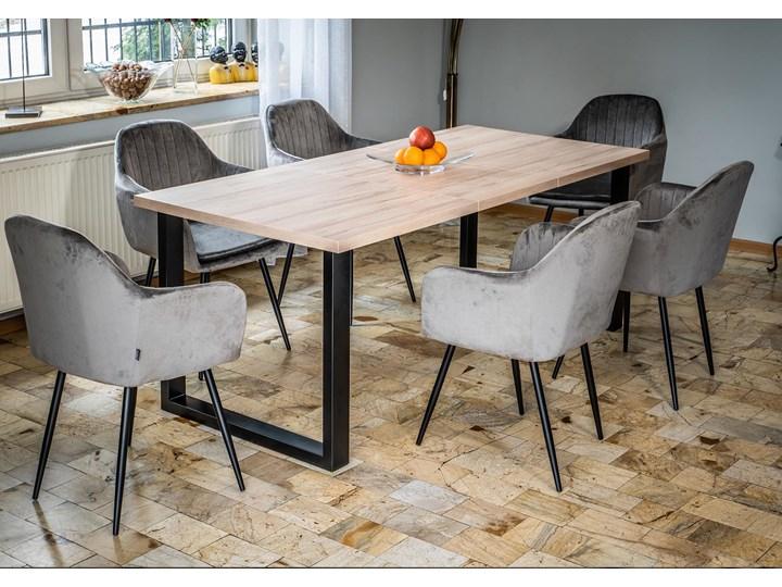 Duży stół do jadalni - duży stół rozkładany w stylu skandynawskim 160x260x90 - FIORD - Jesion Szerokość 260 cm Pomieszczenie Stoły do jadalni Płyta MDF Długość 160 cm  Tworzywo sztuczne Metal Sosna Wysokość 75 cm Drewno Rozkładanie Rozkładane