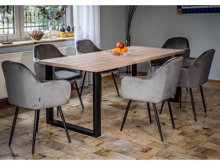 Duży stół do jadalni - duży stół rozkładany w stylu skandynawskim 160x260x90 - FIORD - Jesion Długość 160 cm  Szerokość 260 cm Wysokość 75 cm Drewno Sosna Metal Tworzywo sztuczne Płyta MDF Styl Nowoczesny