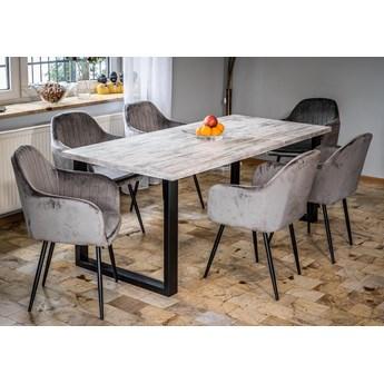 Rozkładany stół do salonu w stylu LOFTOWYM 160x260x90 - FIORD - Sosna bielona