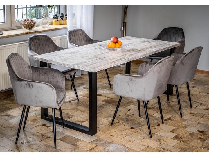 Rozkładany stół do salonu w stylu LOFTOWYM 160x260x90 - FIORD - Sosna bielona Wysokość 75 cm Szerokość 260 cm Długość 160 cm  Metal Płyta MDF Rozkładanie