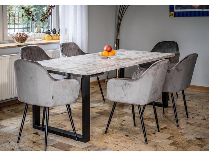 Rozkładany stół do salonu w stylu LOFTOWYM 160x260x90 - FIORD - Sosna bielona Szerokość 260 cm Pomieszczenie Stoły do jadalni Płyta MDF Długość 160 cm  Metal Wysokość 75 cm Rozkładanie
