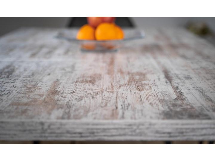 Rozkładany stół do salonu w stylu LOFTOWYM 160x260x90 - FIORD - Sosna bielona Metal Wysokość 75 cm Długość 160 cm  Szerokość 260 cm Płyta MDF Pomieszczenie Stoły do jadalni