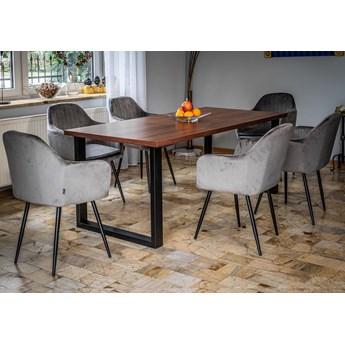 Stół loftowy rozkładany -  160x260x90 - FIORD - Ciemny orzech