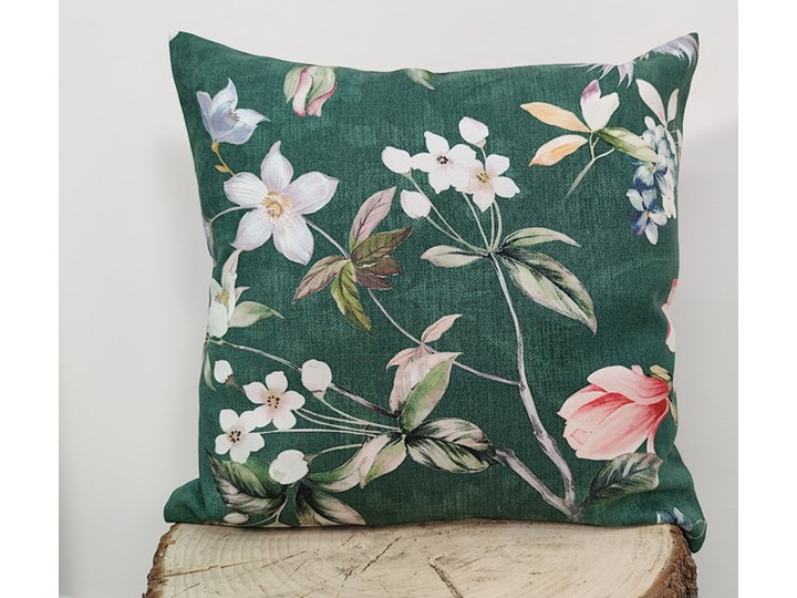 Poszewka dekoracyjna magnolia zielona F-FE51003 Poliester 45x45 cm Kolor Zielony