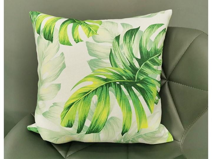 Poszewka dekoracyjna monstera zielony E202 Kategoria Poduszki i poszewki dekoracyjne 40x40 cm Poliester Bawełna Kolor Biały