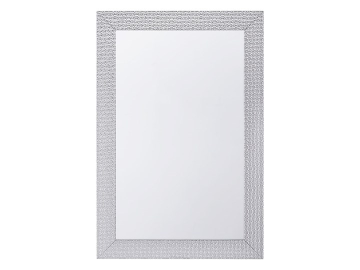 Lustro ścienne wiszące srebrne 61 x 91 cm łazienka sypialnia toaletka Prostokątne Styl Klasyczny