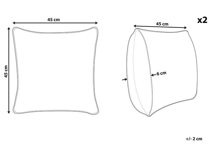 Zestaw 2 poduszek dekoracyjnych beżowo-czarny 45 x 45 cm z ozdobnymi guzikami w paski z wypełnieniem ozdoba akcesoria Len Poszewka dekoracyjna Bawełna 45x45 cm Kategoria Poduszki i poszewki dekoracyjne
