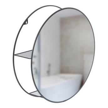 UMBRA - Lustro z półkam 50 cm, czarne, CIRKO kod: 1013194-040