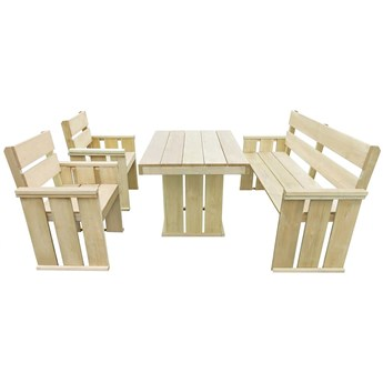 Zestaw drewnianych mebli ogrodowych - Maggie 2X
