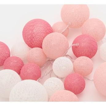 Sinsay - Lampki LED cotton balls 500 cm - Fioletowy