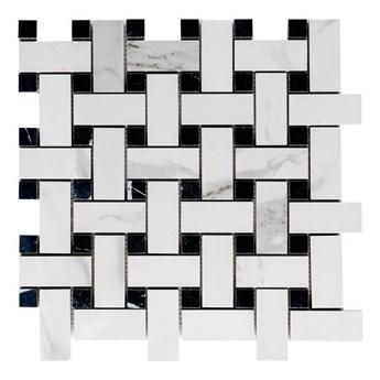 Mozaika Ultimate Marble GoodHome 30 x 30 cm white/black