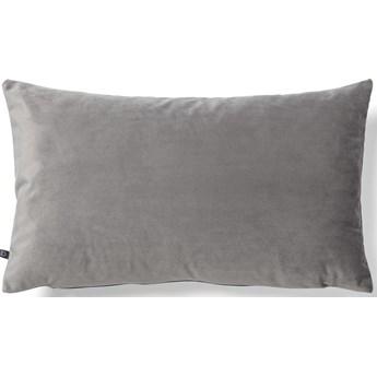 Poszewka na poduszke Lita 30 x 50 cm szary aksamit