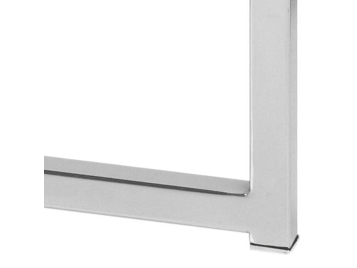 Stolik kawowy Cross 55 cm transparentny blat szklany Metal Szkło Kształt blatu Okrągłe Styl Skandynawski
