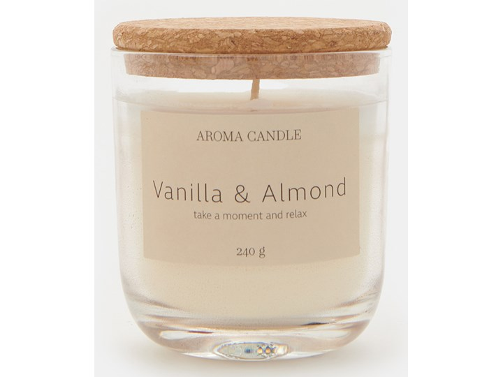 Sinsay - Świeca zapachowa Vanilla&Almond 240 g - Biały Kategoria Świeczniki i świece Kolor Beżowy
