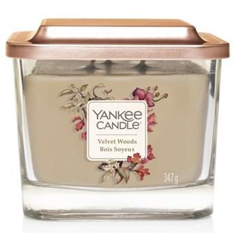 Świeczka średnia Yankee Candle Elevation Collection Velvet Woods Słoik średni 347g