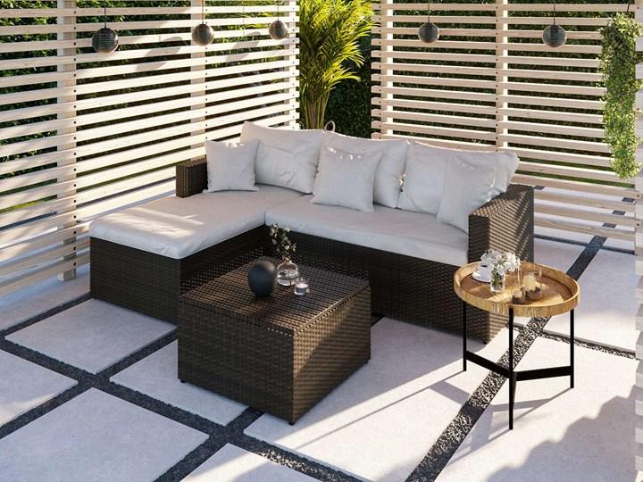 Meble ogrodowe brązowy technorattan 1031 Zestawy wypoczynkowe Zawartość zestawu Sofa