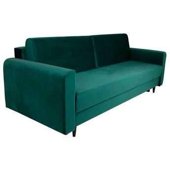 Nowoczesna sofa z funkcją spania ELIZA w kolorze turkusowym