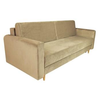 Nowoczesna sofa z funkcją spania ELIZA w kolorze  beżowym