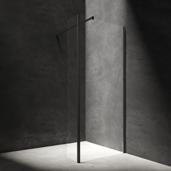 Kabina prysznicowa Marina, walk-in, ścianka boczna, 110x30cm, czarny/transp MA1130BLTR