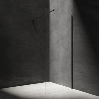 Kabina prysznicowa Marina, walk-in, 80cm, czarny/transp, DNR80XBLTR