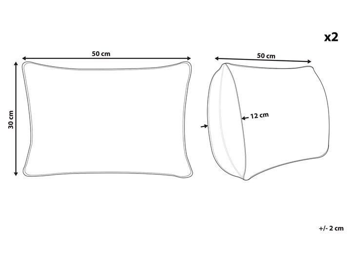 Zestaw 2 poduszek dekoracyjne szare w paski prostokątne 30 x 50 cm z wypełnieniem ozdobna akcesoria salon sypialnia 30x50 cm Poliester Poszewka dekoracyjna Kategoria Poduszki i poszewki dekoracyjne Kolor Szary