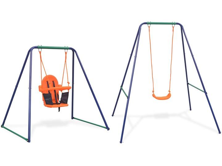 Ogrodowa huśtawka dziecięca 2w1 - Triny Metal Kubełkowa Kategoria Huśtawki dla dzieci