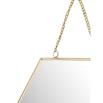 Lustro z uchwytem plaster miodu złote
