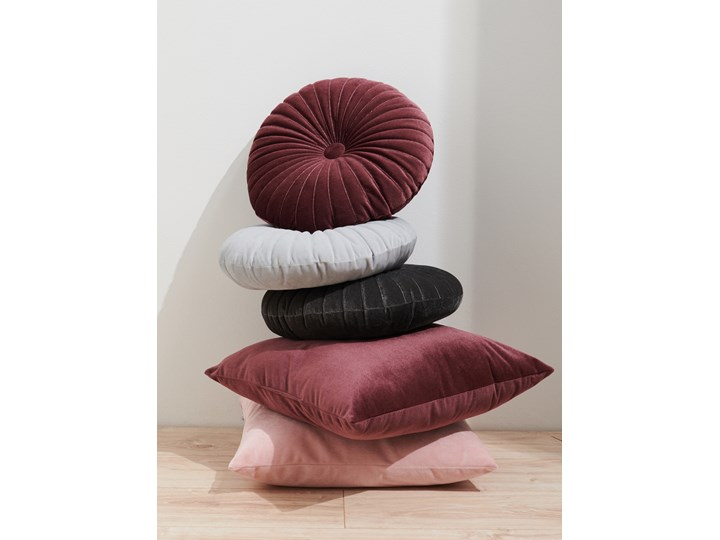 Sinsay - Poduszka Ø 36 cm - Fioletowy Okrągłe Kategoria Poduszki i poszewki dekoracyjne Poduszka dekoracyjna Kolor Różowy