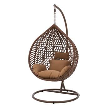 Fotel wiszący WALLANO z brązowym siedziskiem       Salony Agata