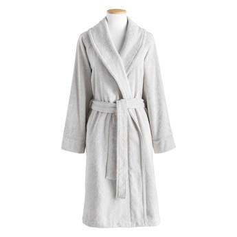 Szlafrok bawełniany Alexandre Turpault Esscale Light Grey