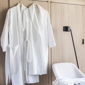 Szlafrok bawełniany Alexandre Turpault Esscale Blanc