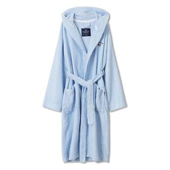 Szlafrok Unisex Lexington Striped Organic Hooded Blue/White
