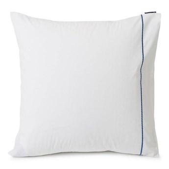 Poszewka bawełniana Lexington Rope Embroidered White/Blue